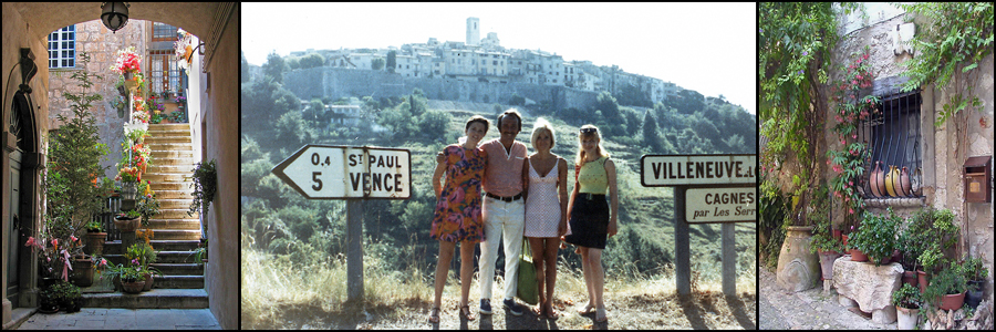 Scenic St. Paul de Vence with Sandy, Bob, Yvette and her sister
