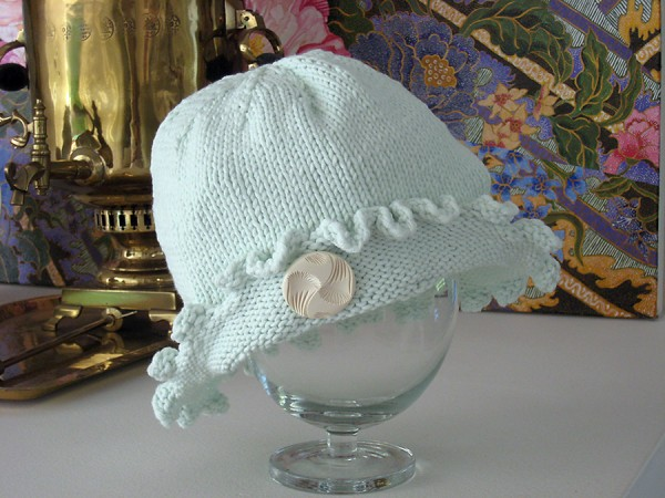 Hand knit chemo hat