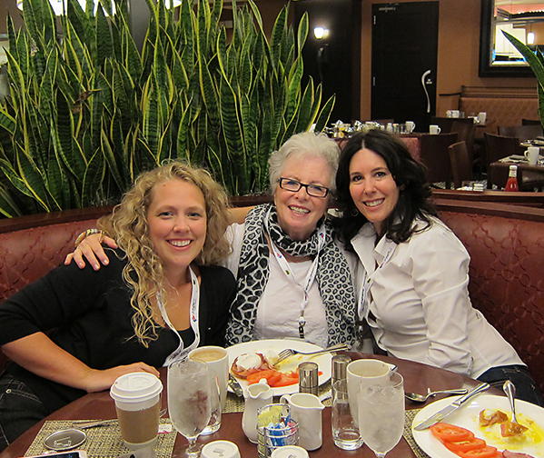 Breakfast at the Sheraton Hotel in Chicago with Julie DeNeen, Sandra Sallin and Linda Wolff