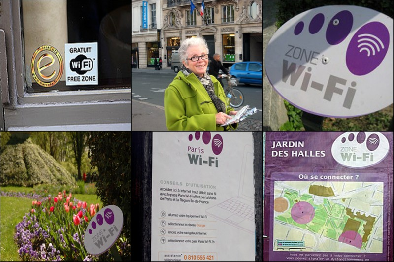 Free Wifi Paris posters