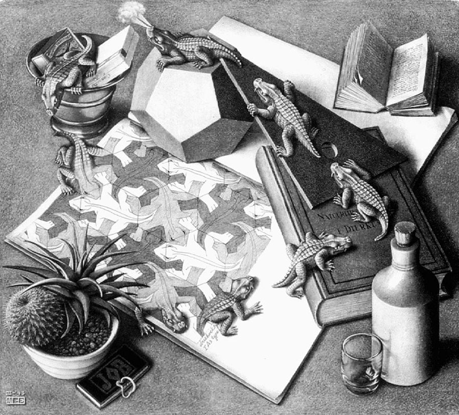 M. C. Escher Reptiles