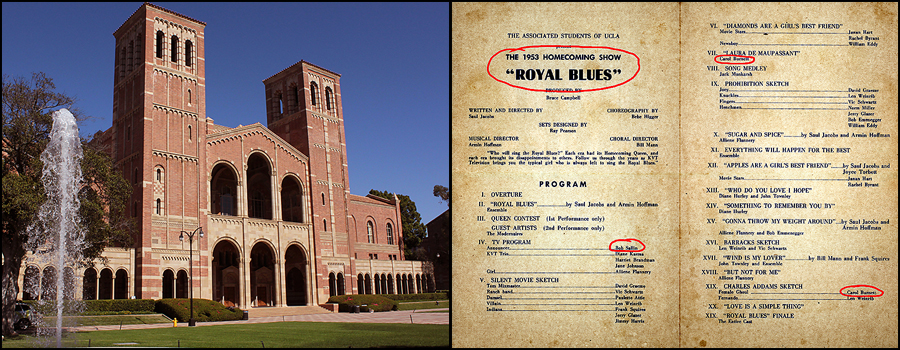 Picture of Royce Hall and the Program to Royal Blues Homecoming Show