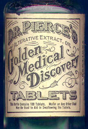 Golden medical discovery label