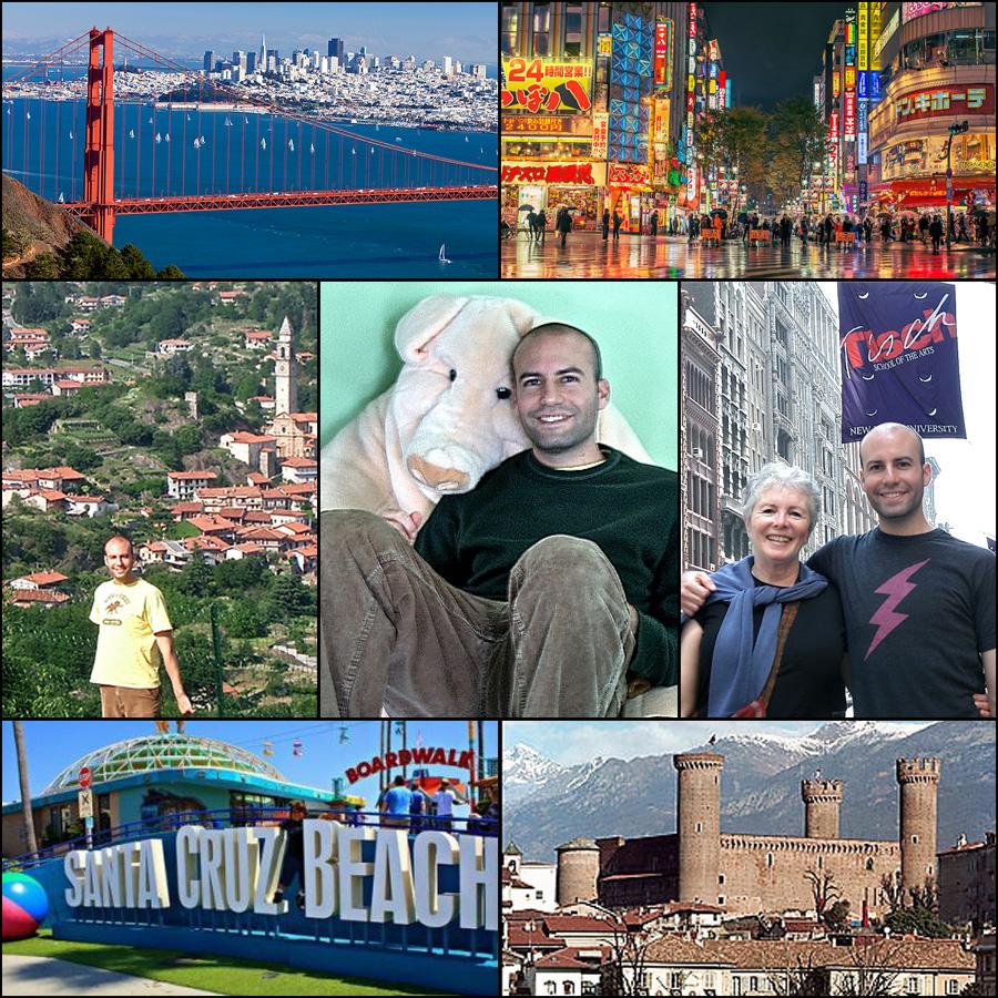 Matt in Santa Cruz, San Francisco, Tokyo and New York City