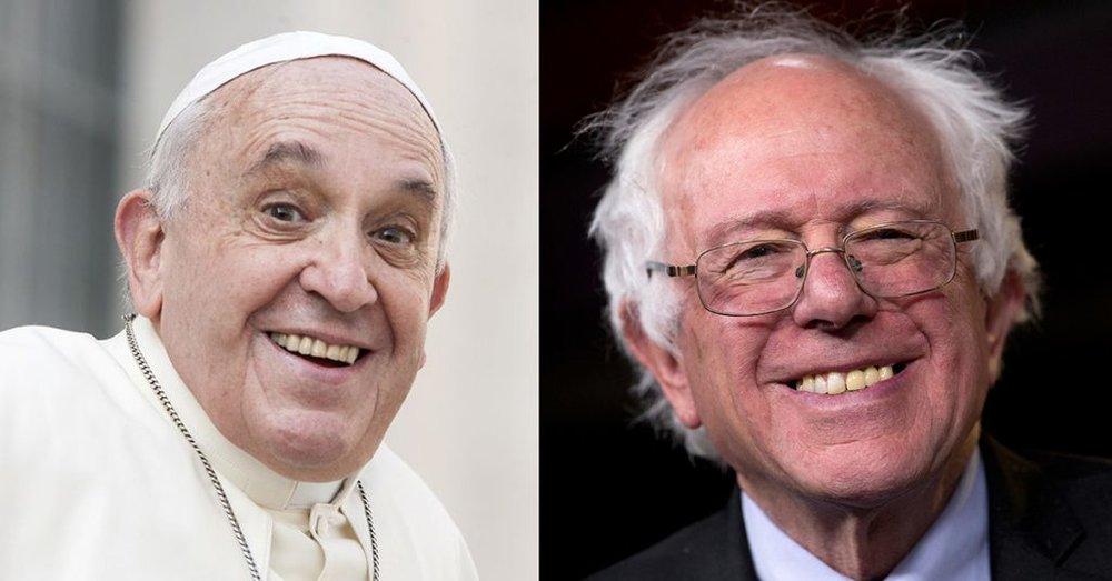 Bernie Sanders and Pope Francis