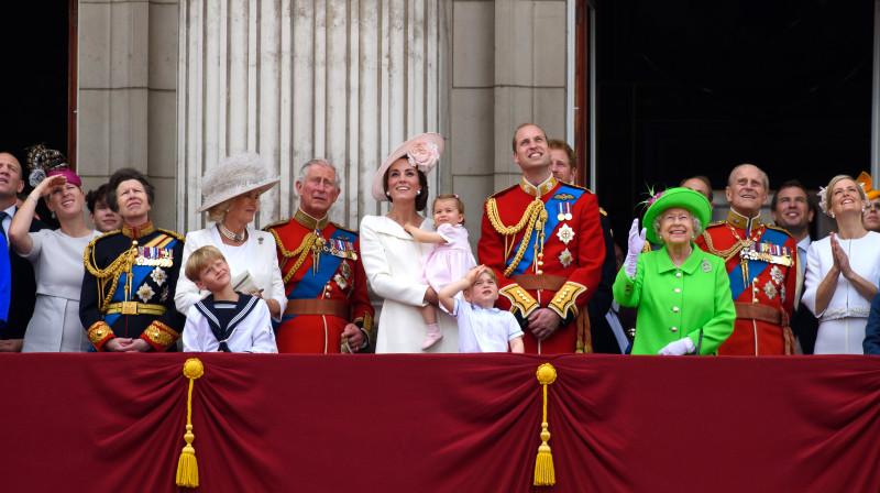 LONDON, ENGLAND - JUNE 11: Zara Tindall, Anne, Princess Royal, Camilla, Duchess of Cornwall, Charles, Prince of Wales,