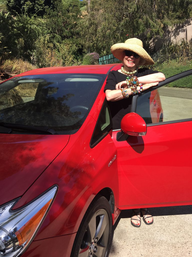 Sandra and her new Prius