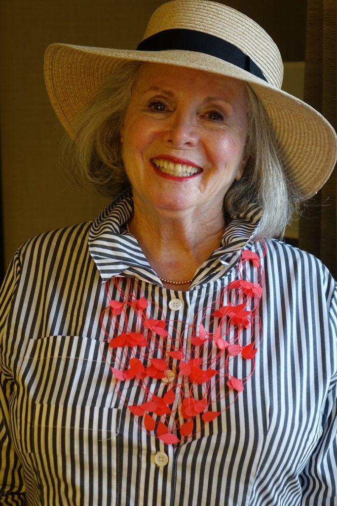 Sandra wearing Hat