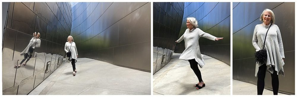 Sandra at Walt Disney Hall