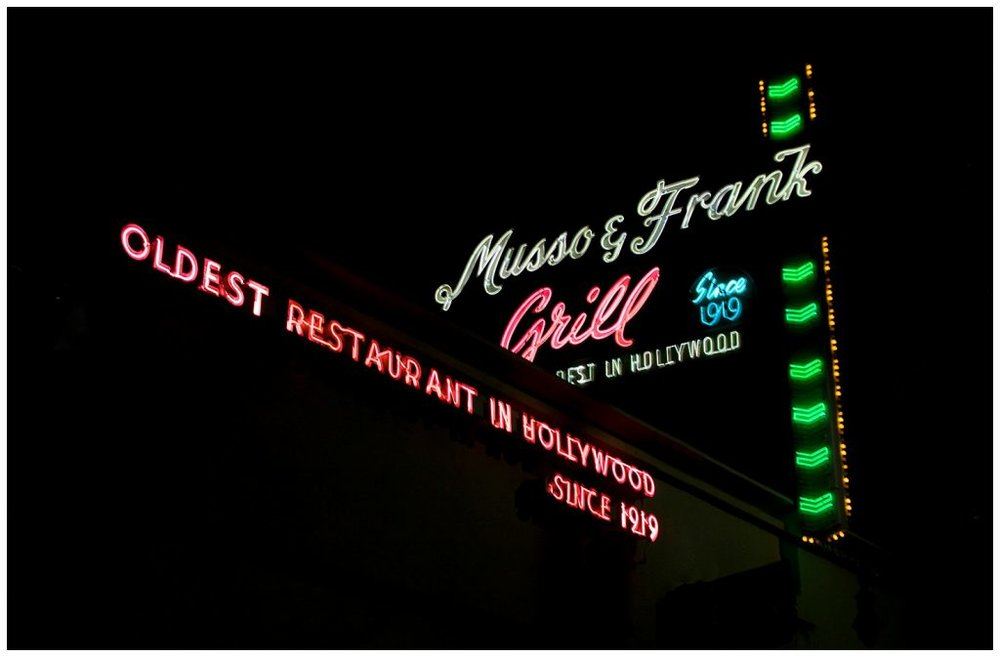 Musso & Franks Neon sign
