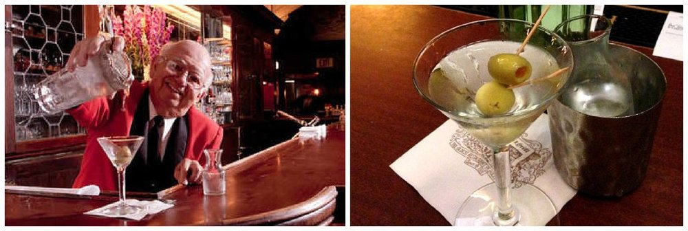 Musso & Franks bartender and martini