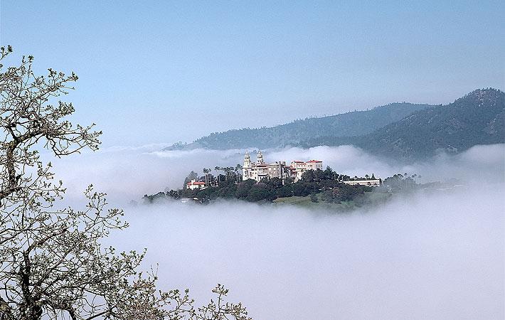Hearst Castle in the Fog