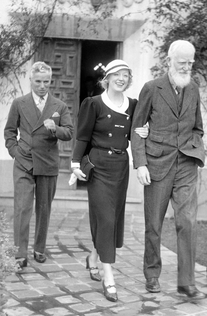 Charlie Chaplin. Marion Davies and George Bernard Shaw