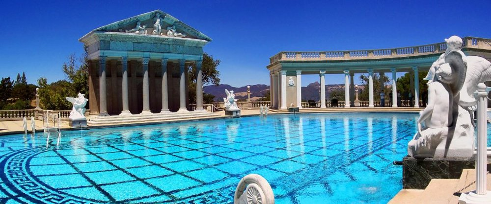Outdoor Neptune pool at Hearst Castle