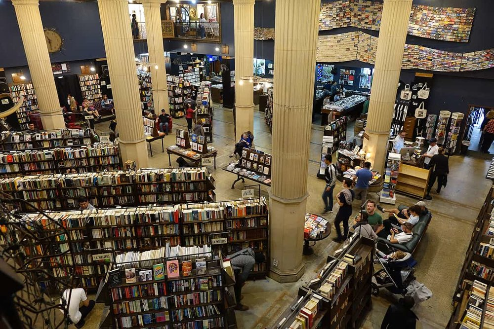 First floor of The Last Bookstore