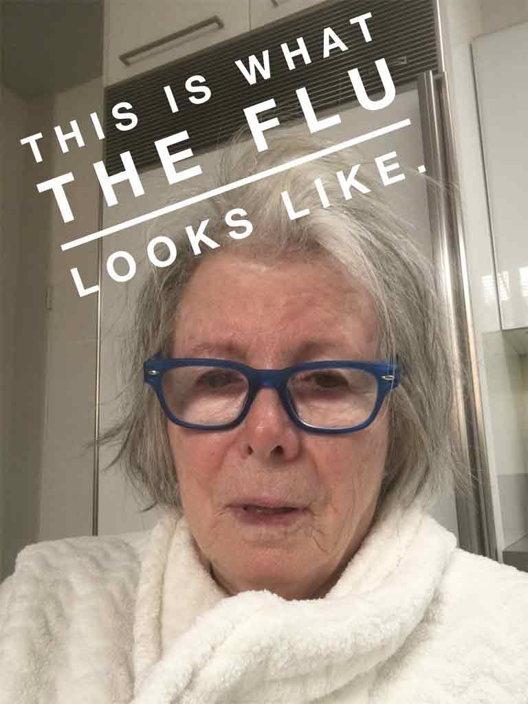 This is what the flu looks like.