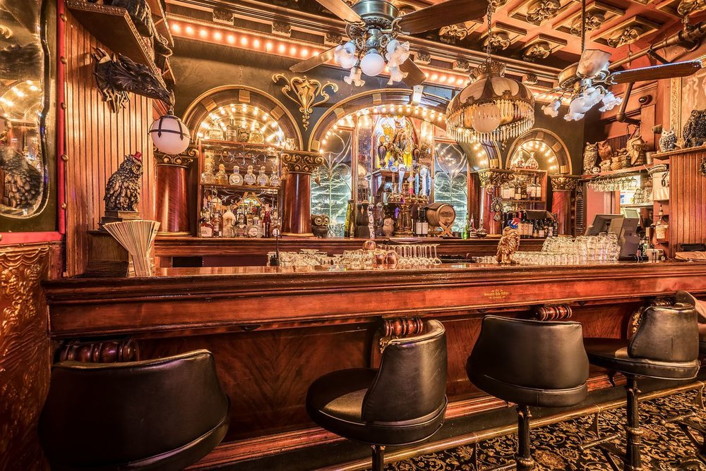 One of the bars at The Magic Castle in Hollywood California