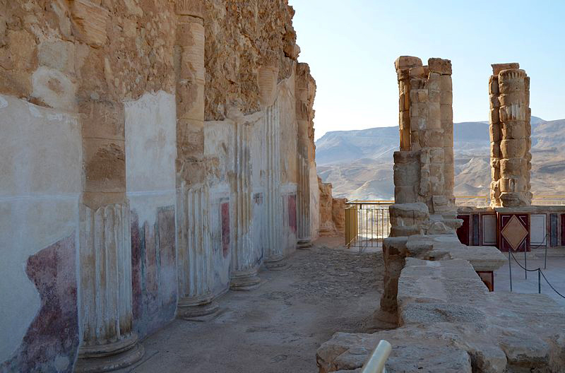 Lower terrace of Herod's Palace on the Masada