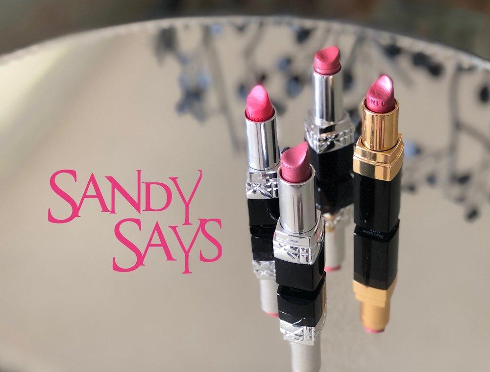 My favorite lipsticks.  Dior #208 Bal ,  Saint Germain #414 ,  Actrice #028,   Chanel Legende #428
