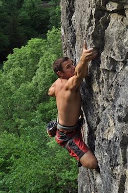 Steve Winslow Climbing A38