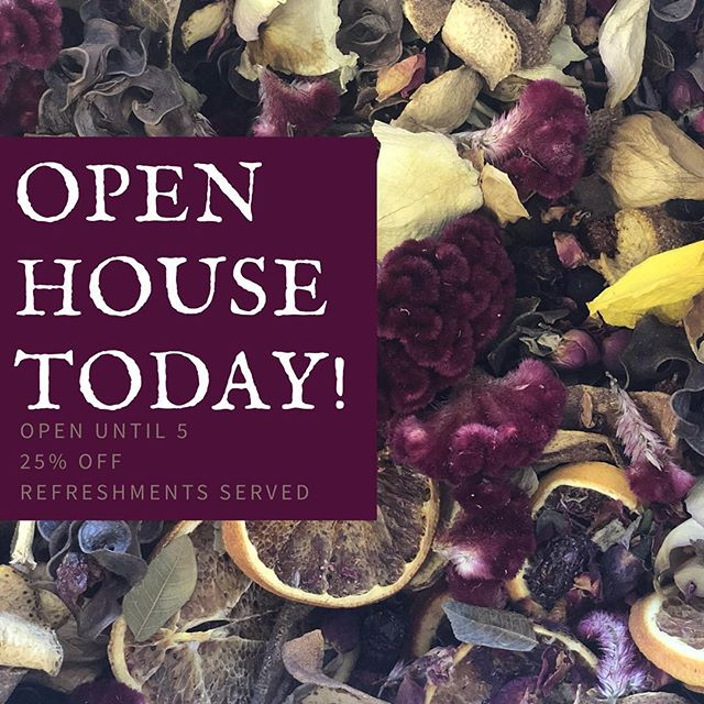 It's been a great day to open our doors for our open house! Swipe to see some of our favs that you can find in the shop! . Come take a look and snack on delicious treats from @__simply__delicious . 25% of everything today! Open until 5pm ❤️🍁🎃