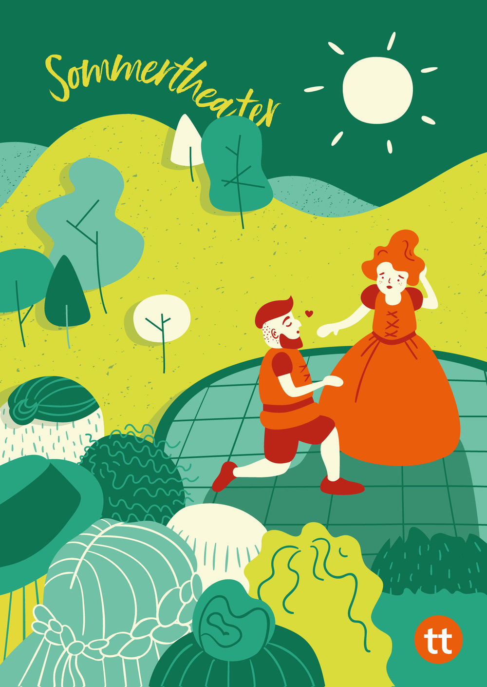 illustration for summer theater