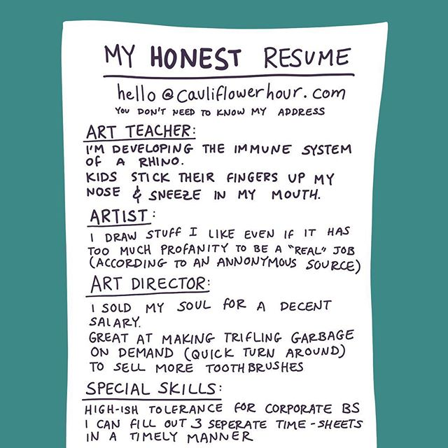My current resume doesn't fully capture my ability to fill-out timesheets 🗳🗂🗳🗂 #work #job #resume #relatable #honest #jobhunting #professional #art #artteacher #artist #design #designer #graphicdesign #procreate #sketch #doodle #drawing #illustration #cauliflowerhour