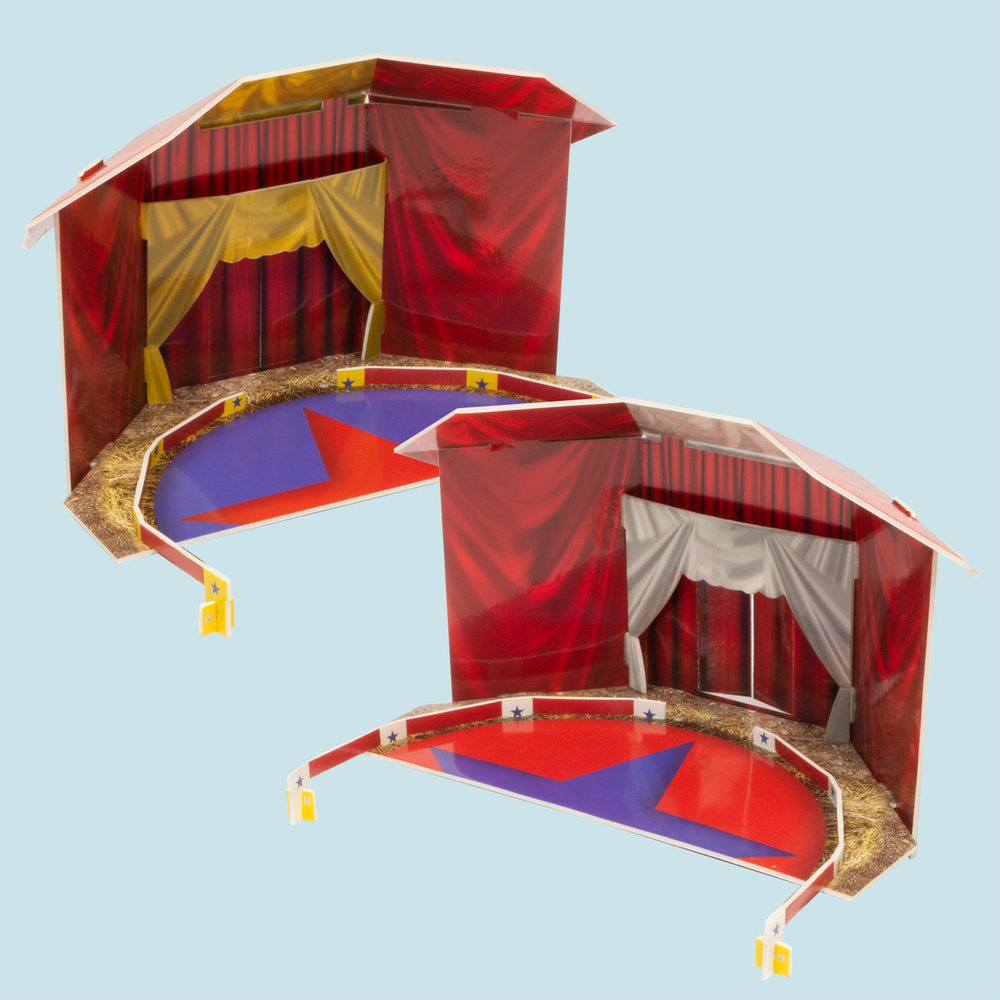 Two different circus tents