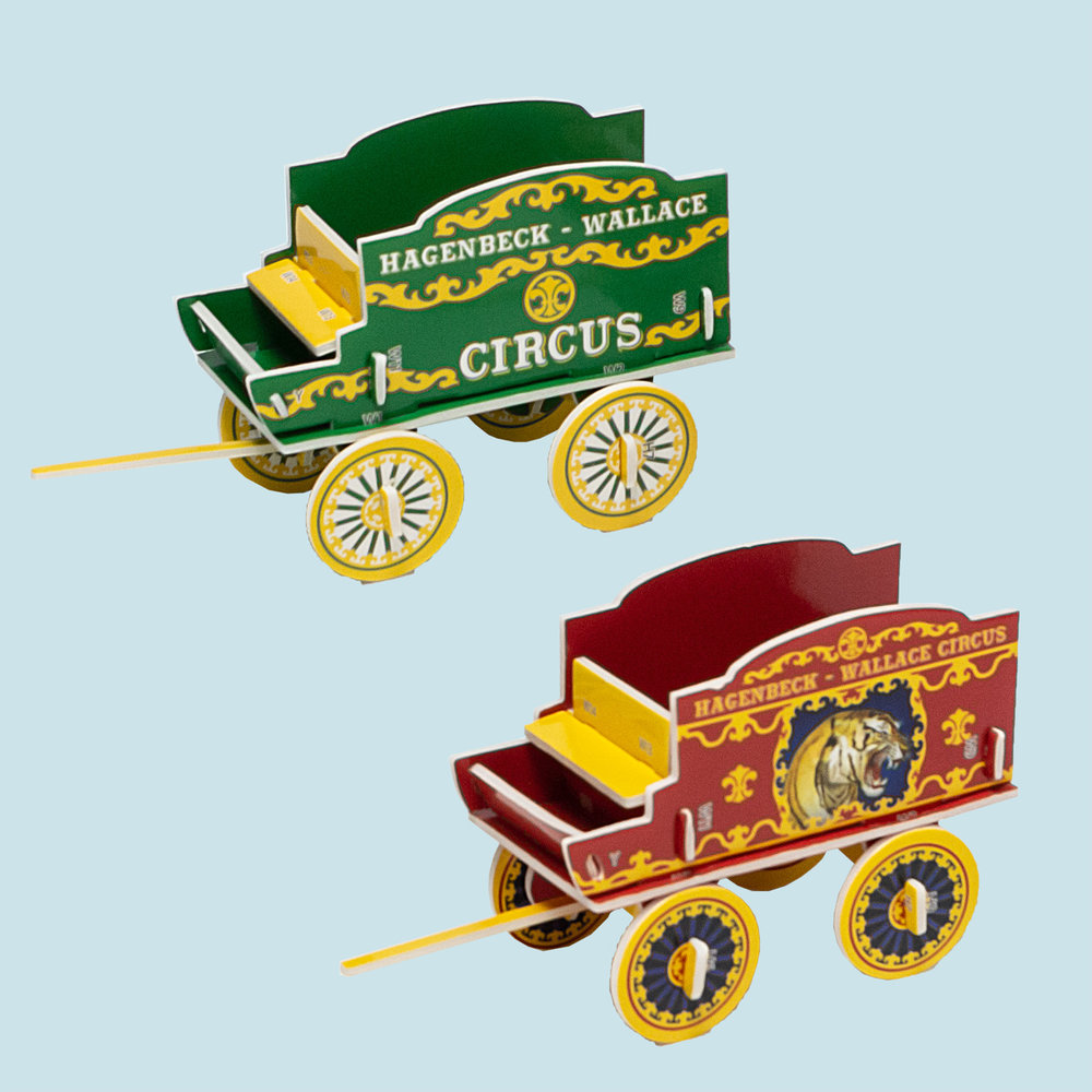 Two circus wagons