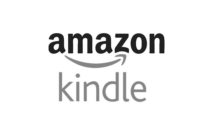 Amazon Kindle icon black and white