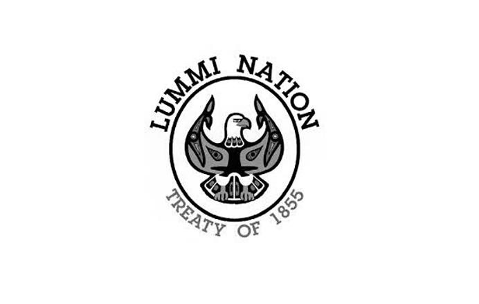 Lummi Nation Treaty of 1855 logo logo black and white