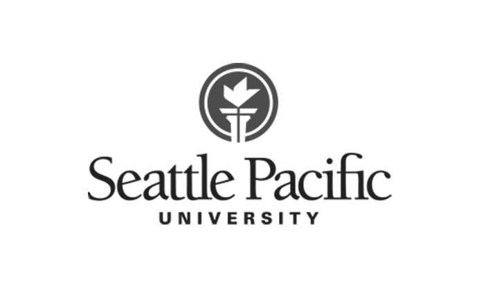 Seattle Pacific University logo black and white