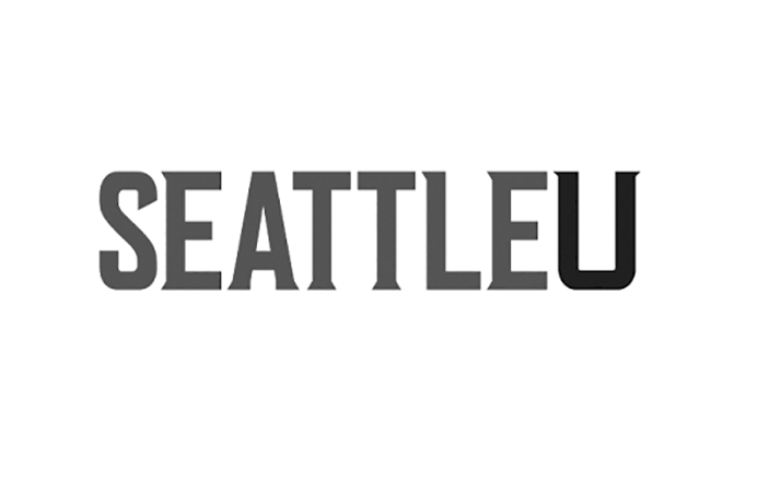 Seattle U logo black and white