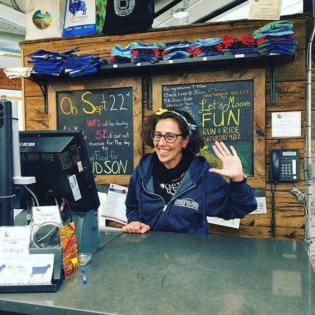 This Saturday 9/22, our friends @hawthornevalley Farm Store are donating 5% of their net revenue to GFFH! Stock up and say hi to Laura (pictured here) and all the fine folks at HVFS!