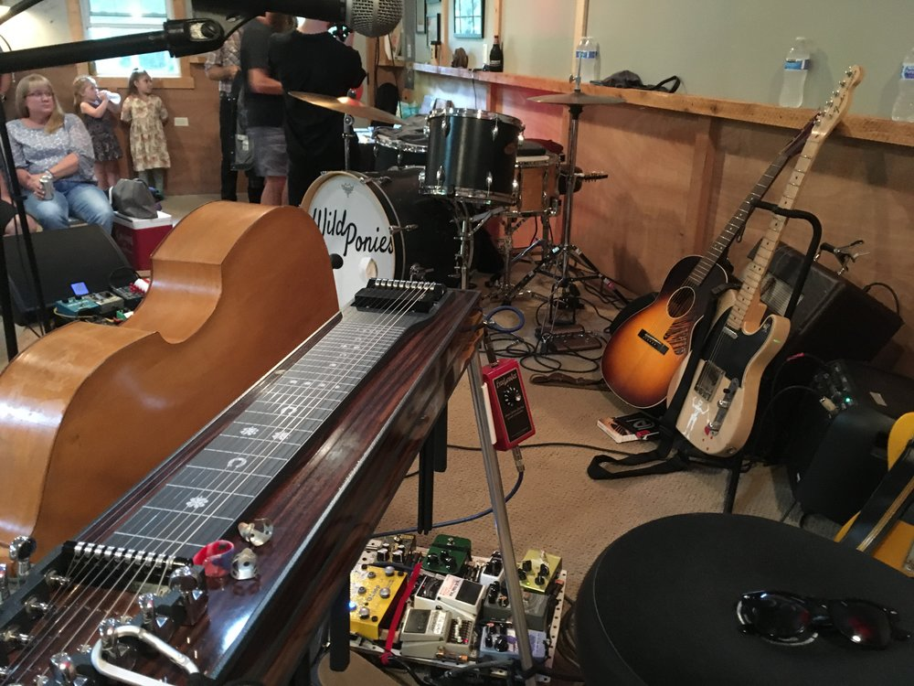 Wild Ponies stage setup by Greg Horne