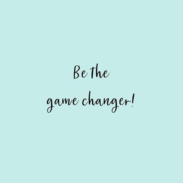 Be the game changer 🙌🏼💪🏼. #MotivationMonday