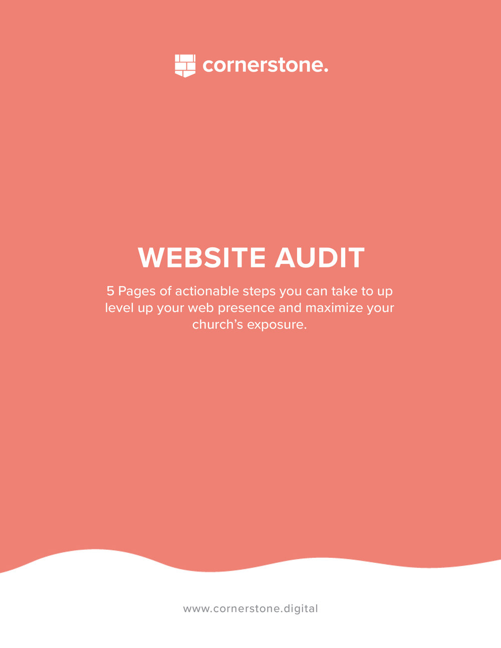 Website Audit - 5 Pages of actionable steps you can take to up level up your web presence and maximize your church's exposure.