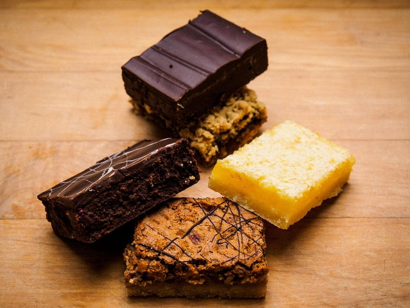 Squares - We have a large selection of squares in store daily, for any sweet tooth.