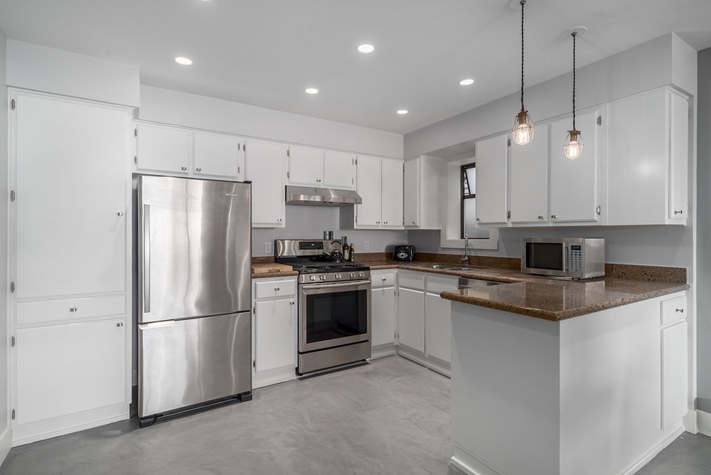 Freestanding appliances in our East Vancouver kitchen renovation.