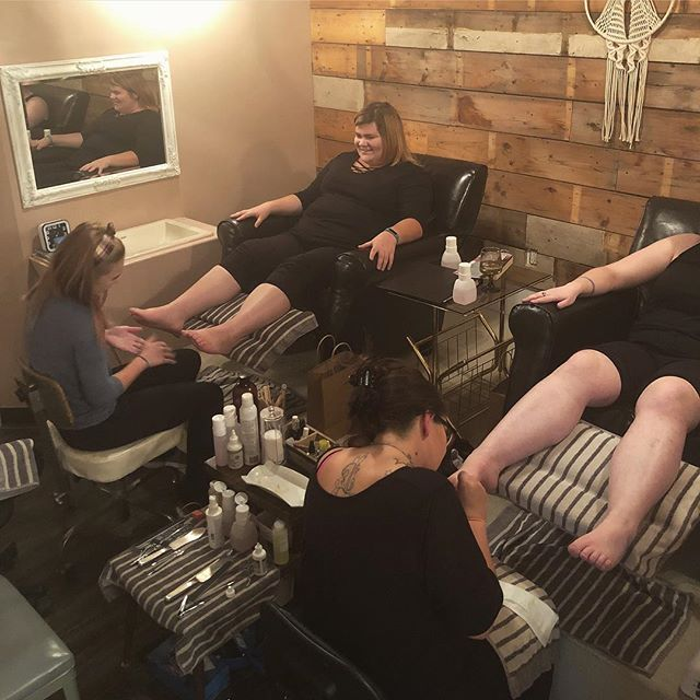 Pedicure class in full swing tonight! Such a fun group of ladies! 💕 #spa #academy #beauty #pedicures #yorkton