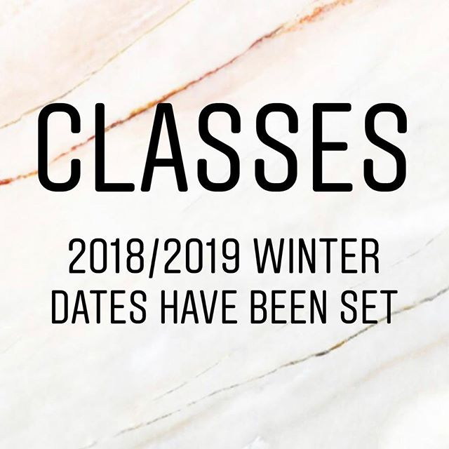 Dates have been set for: Pedicures, Manicures, Gel Nails, Makeup Artistry 101, Facials, Waxing and Lash Lifting!!! Limited seats available per class and they are almost already all full! 😍