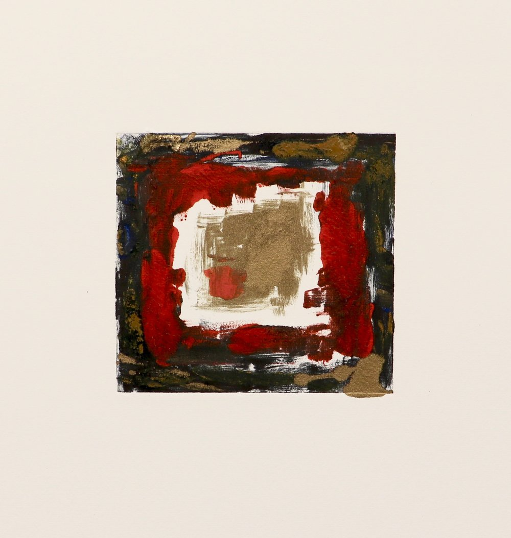 Square in gold and red