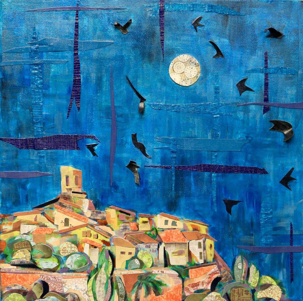 Moonrise over St. Paul de Vence