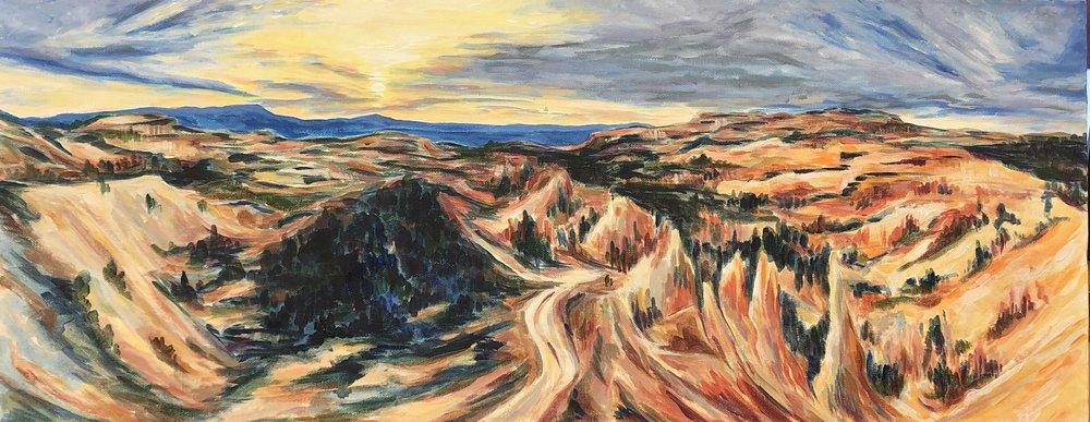 Panorama Sunrise - Bryce Canyon National Park - acrylic on canvas