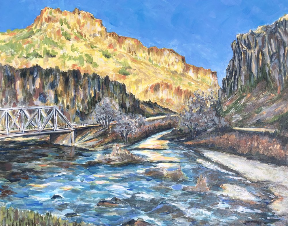 River a Glow, John Dunn Bridge - Arroyo Hondo, New Mexico