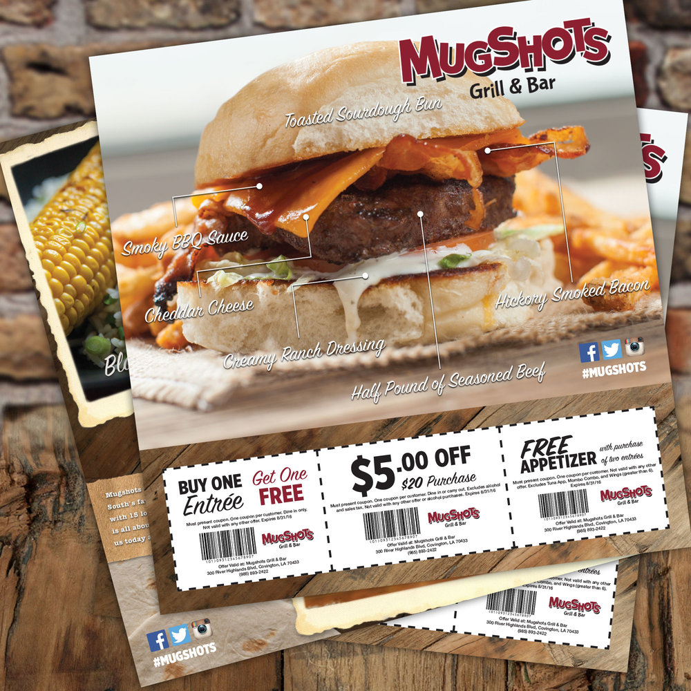 Direct Mail Campaign: Mugshots Grill & Bar