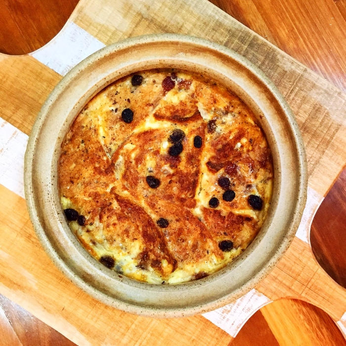 Sourdough bread and butter pudding.JPG