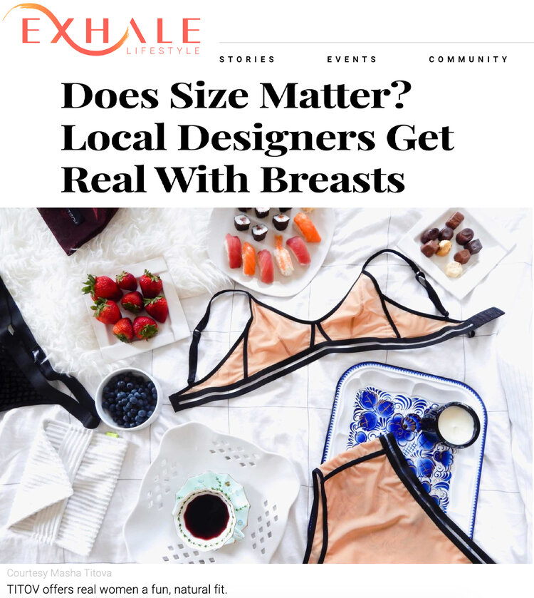 exhale magazine titov does size matter? Extended sized lingerie
