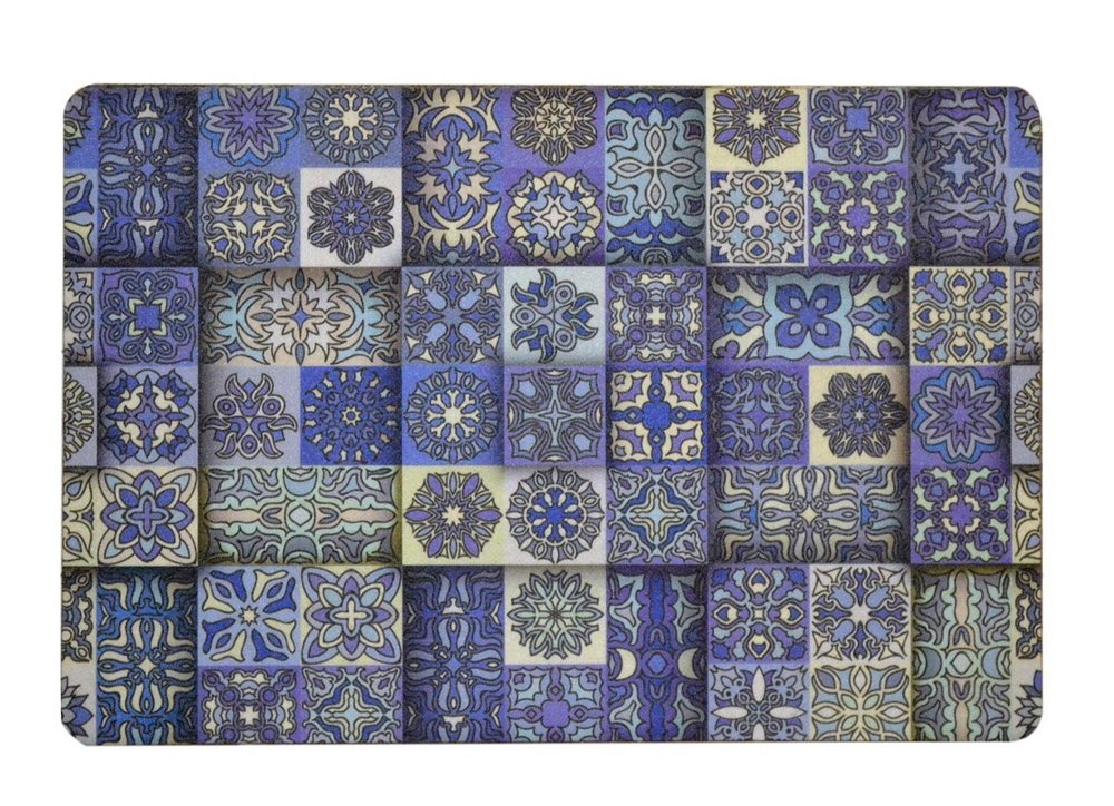 Blue and Cream Morrocan Tiles