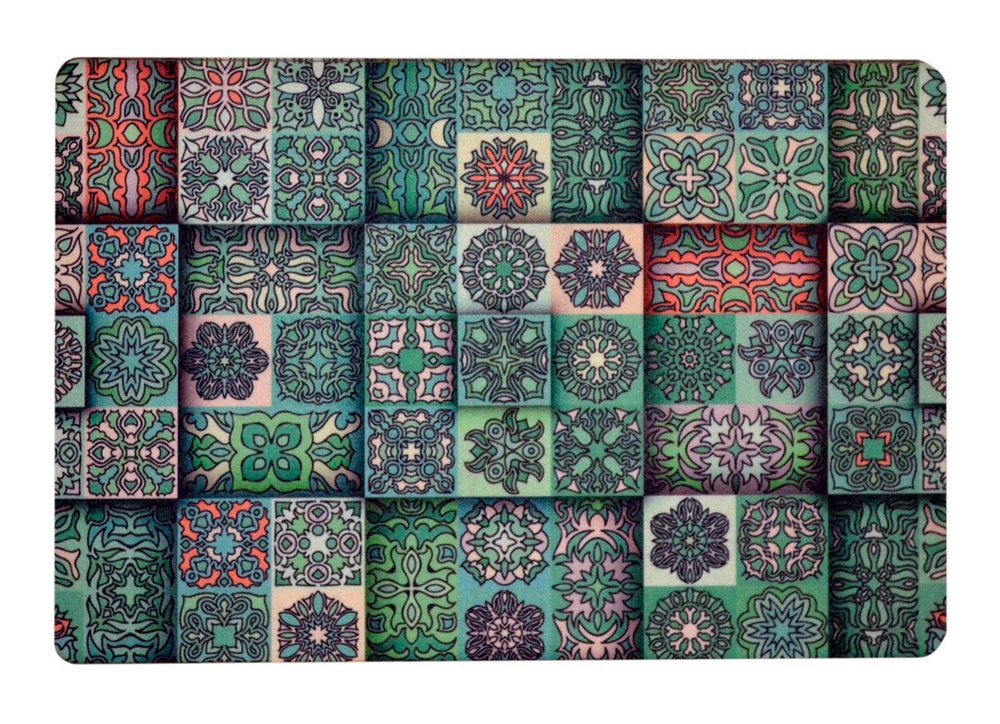 Green and Pink Morrocan Tiles